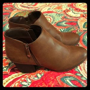 Style & Co brown booties, size 9